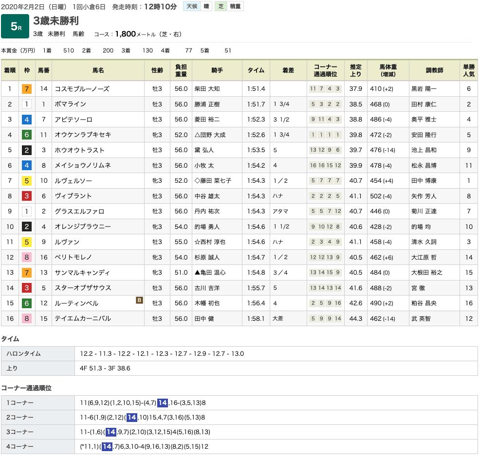 コスモブルーノーズ(ゴールドシップ産駒)がゴール前抜け出し初勝利