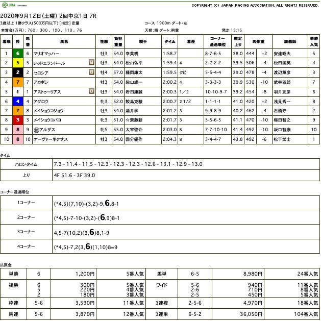マリオマッハー(ゴールドシップ産駒)が力強い伸び脚で突き抜け2勝目