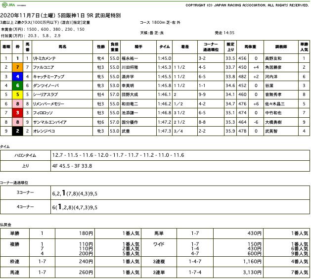 リトミカメンテ(オルフェーヴル産駒)が最内を鮮やかに抜け出し3勝目