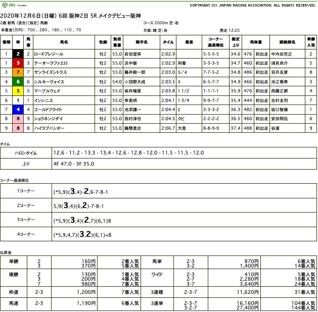 テーオーラファエロ(ゴールドシップ産駒)が勝負どころでポジション落とすも、直線巻き返して新馬勝ち