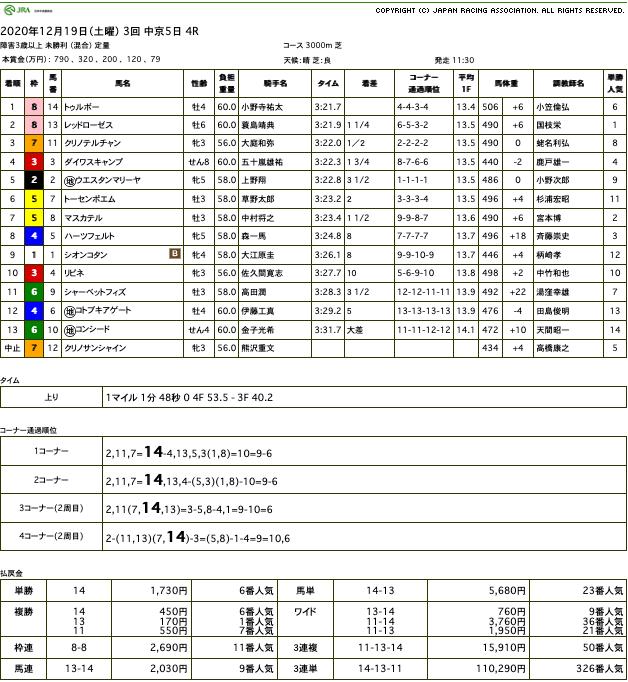 トゥルボー(オルフェーヴル産駒)が障害初勝利