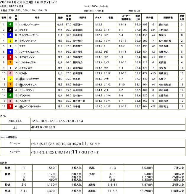 シンゼンブースター(オルフェーヴル産駒)が後方からゴール前差し切り2勝目