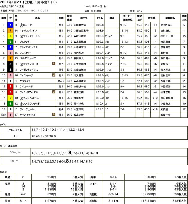 ロジーナ(メジロマックイーン ひ孫世代、母ケープタウンシチー)がJRA 復帰初戦で中央初勝利