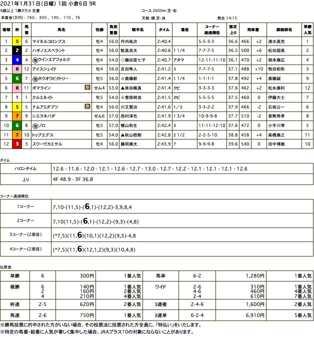 マイネルコロンブス(ゴールドシップ産駒)が直線抜け出して2勝目