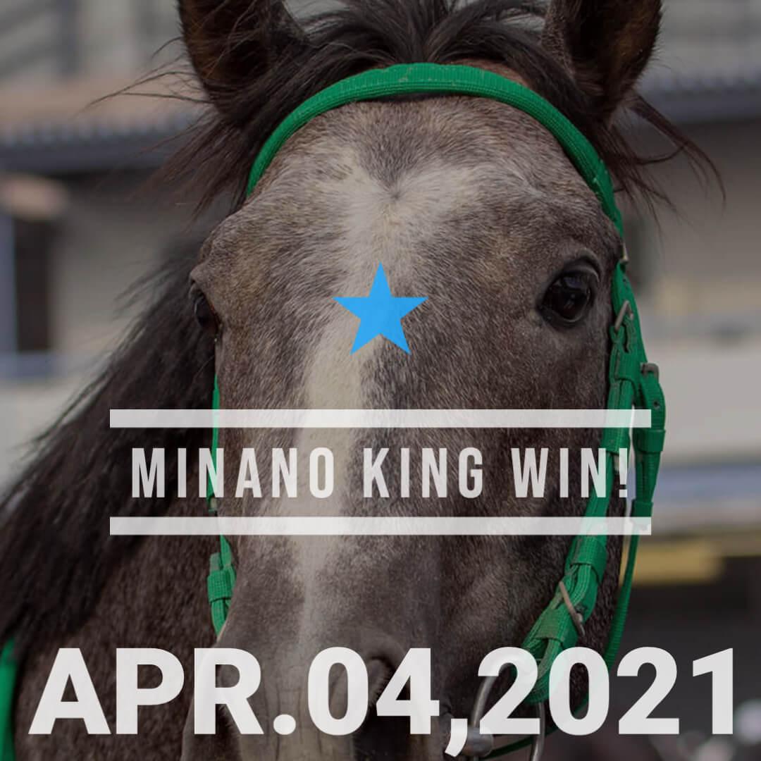 ミナノキング(ギンザグリングラス産駒)が初勝利。ギンザグリングラスは初年度産駒2頭が勝ち上がったことに