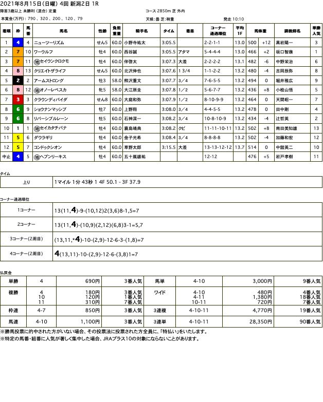 ニューツーリズム(ドリームジャーニー産駒)が積極的なレース運びでジャンプレース初勝利