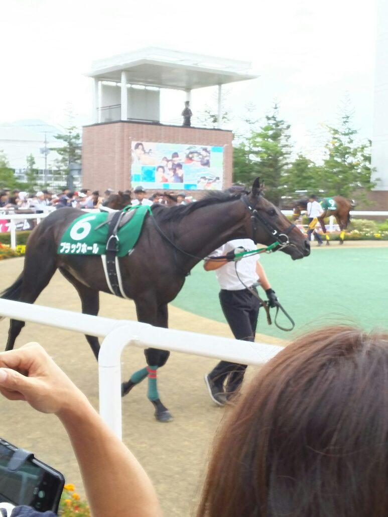 ブラックホールが札幌2歳S(GIII)を制覇。ゴールドシップ産駒はサトノゴールドとのワンツーフィニッシュで重賞初制覇 © maki さん